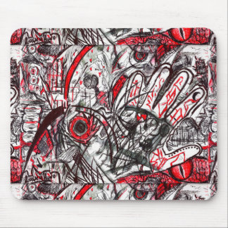 Hands of Rage Pen Drawing Mouse Pad