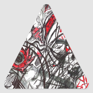 Hands of Rage Pen Drawing Triangle Sticker