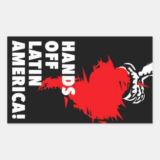 Hands Off Latin America! Rectangular Sticker