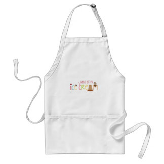 Hands Off My Ice Cream Adult Apron
