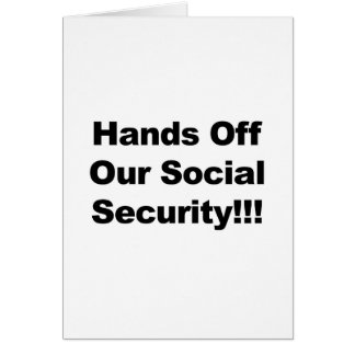 Hands Off Social Security Card