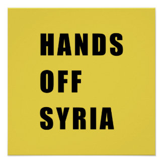 Hands off Syria Poster