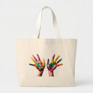 Hands printed tote bag