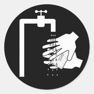 Hands soap faucet - stickers