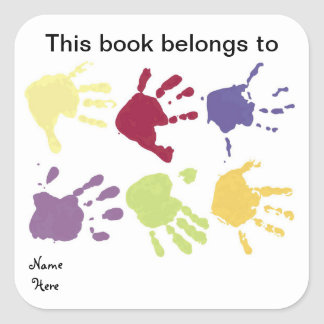 Hands This Book Belongs To, Bookplate Sticker