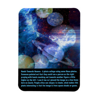 Hands Towards Heaven Rectangular Photo Magnet