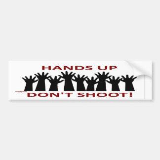 hands up bumper sticker
