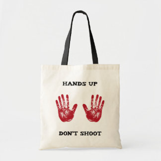 Hands Up Don t Shoot Solidarity for Ferguson Mo Canvas Bag