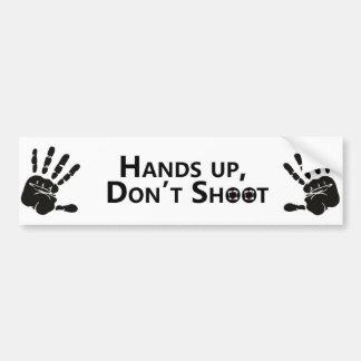 Hands up, Don't shoot Bumper Sticker
