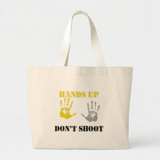 HANDS UP DONT SHOOT png Canvas Bag