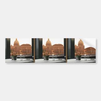 Hands Window Waves Architecture Decorative GIFTS 9 Car Bumper Sticker