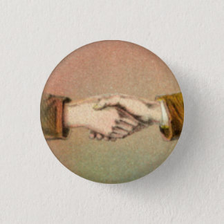 Handshake 1 Inch Round Button