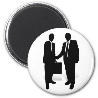 Handshake 6 Cm Round Magnet