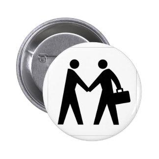 Handshake Pinback Button