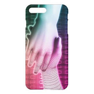 Handshake Between Man and Machine iPhone 7 Plus Case