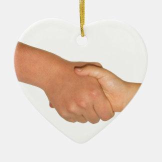 Handshake Ceramic Heart Decoration