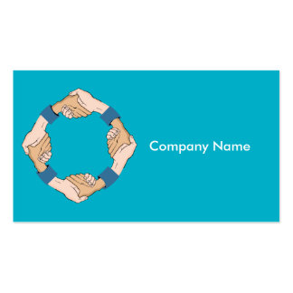 Handshake Circle Hands Business Card Pack Of Standard Business Cards
