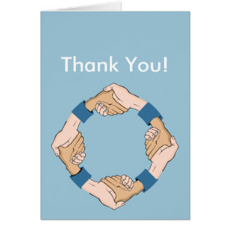 Handshake Circle Hands Greeting Card