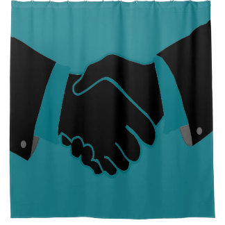 HandShake design Shower Curtain