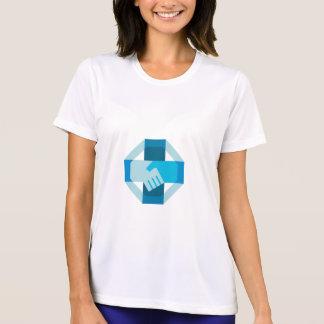 Handshake Forming Cross Octagon Retro T-Shirt