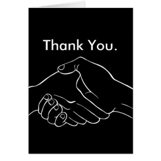 Handshake Hands Greeting Card