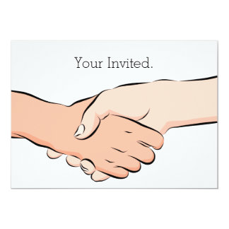 "Handshake Hands Invitation 5"" X 7"" Invitation Card"