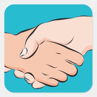 Handshake Hands Square Sticker