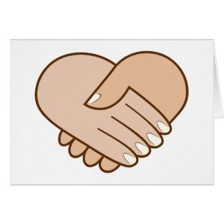 Handshake heart handshake heart card
