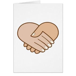 Handshake heart handshake heart greeting card