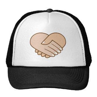Handshake heart handshake heart mesh hats