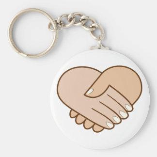 Handshake heart handshake heart key chains