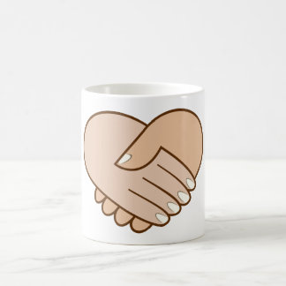 Handshake heart handshake heart mugs