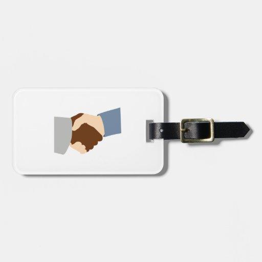 Handshake Luggage Tag