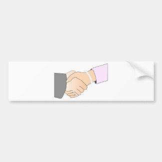 Handshake Man and Woman Bumper Sticker
