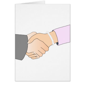 Handshake Man and Woman Card