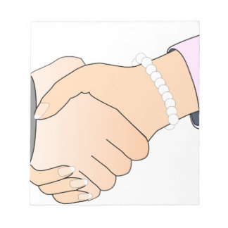 Handshake Man and Woman Notepad