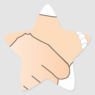 Handshake Man and Woman Star Sticker