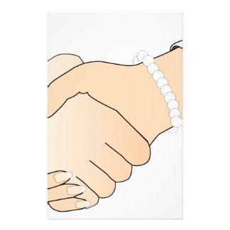 Handshake Man and Woman Stationery