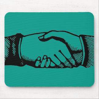 Handshake Mousepad with Retro Vintage Hands