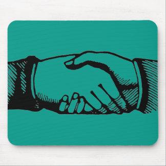 Handshake Mousepad with Retro Vintage Hands