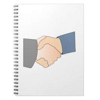 Handshake Spiral Note Book