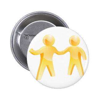 Handshake people pin