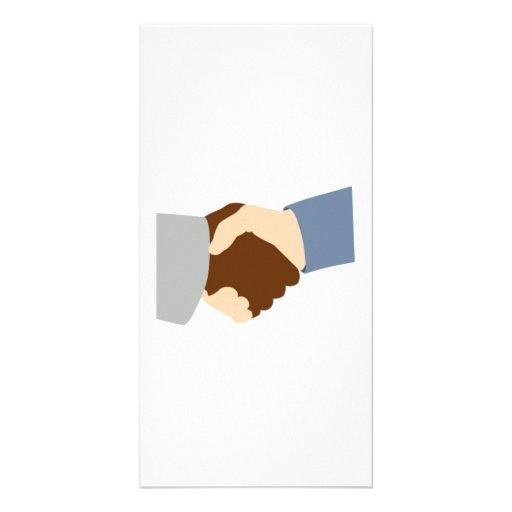 Handshake Customized Photo Card