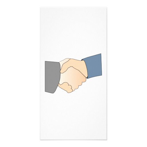 Handshake Personalized Photo Card