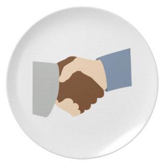 Handshake Plates