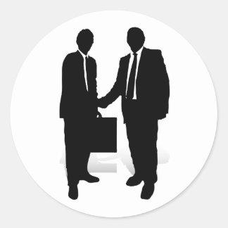 Handshake Round Sticker