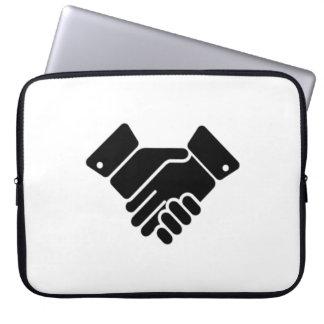 Handshake Sign Computer Sleeves