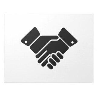 Handshake Sign Memo Note Pads