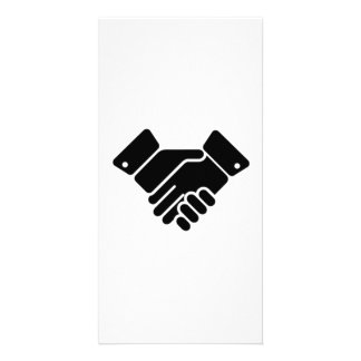 Handshake Sign Personalized Photo Card