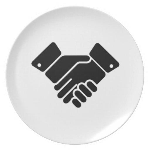 Handshake Sign Plate
